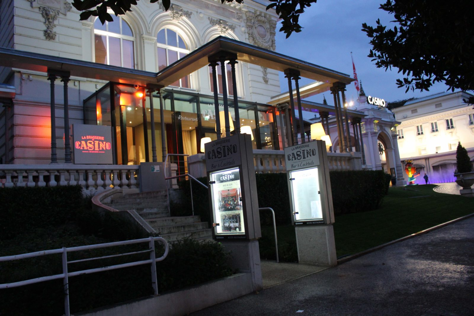entrée de la Brasserie du ccasino Aix-les-Bains