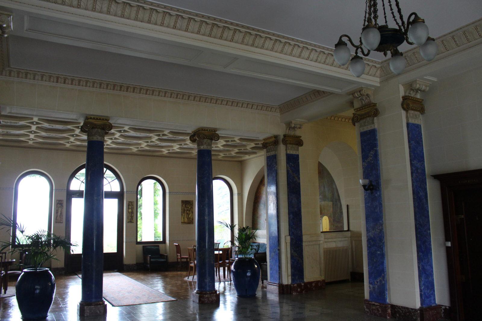 Aix-les-Bains, vue sur le salon du Splendide