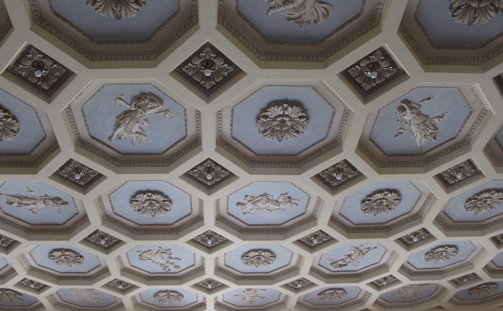 Aix-les-Bains, plafond du salon du Splendide