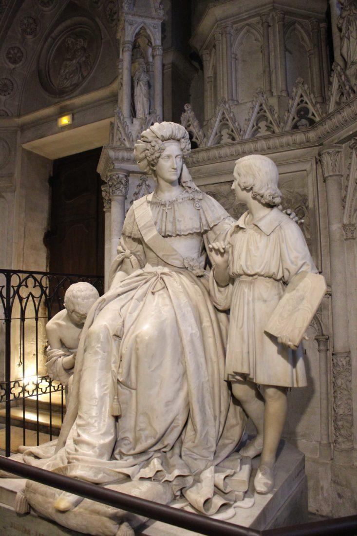 Abbaye d'Hautecombe Statue Marie-Christine de Savoie