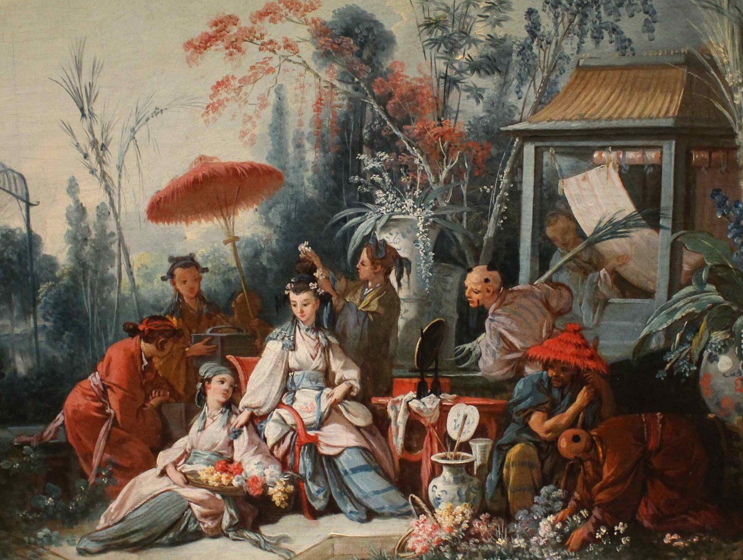 françois Boucher, Le jardin chinois
