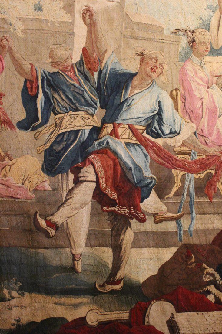 tapisserie La danse choînoise - Boucher - détail