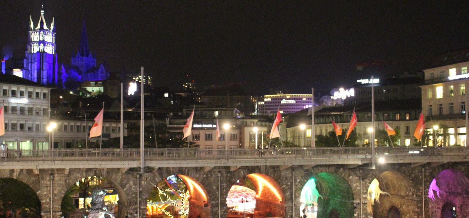 Festival Lausanne Lumières vue sur la ville