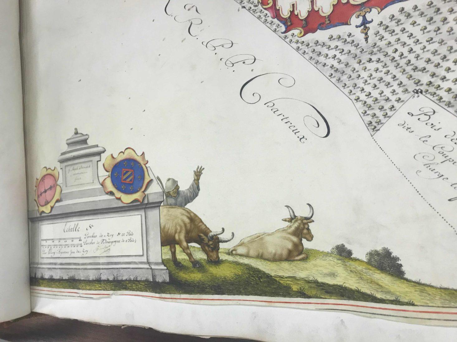 Archives départementales Côte-d'Or Atlas de Citeaux détail