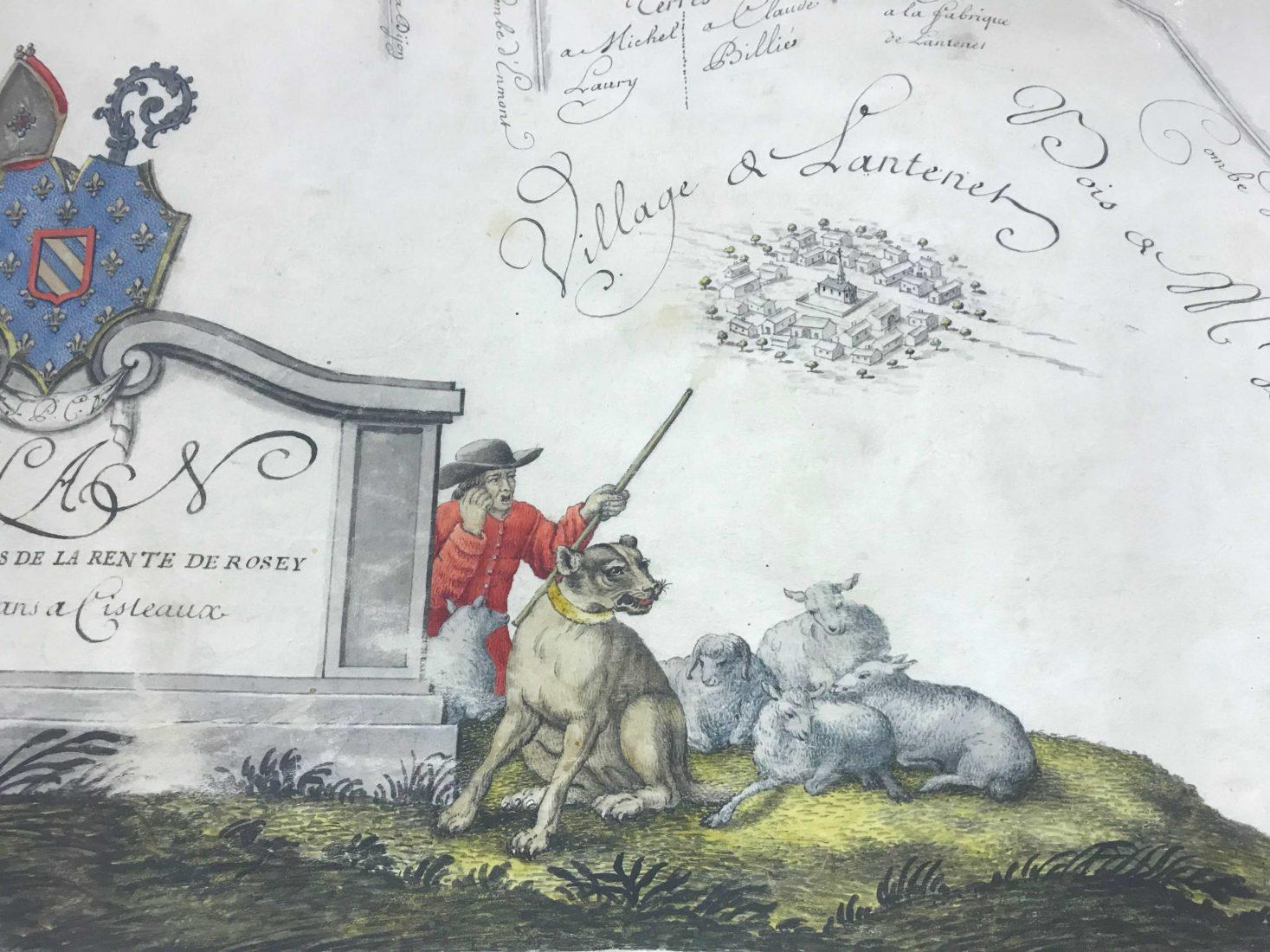 Archives départementales Côte-d'Or Atlas de Citeaux Lantenet
