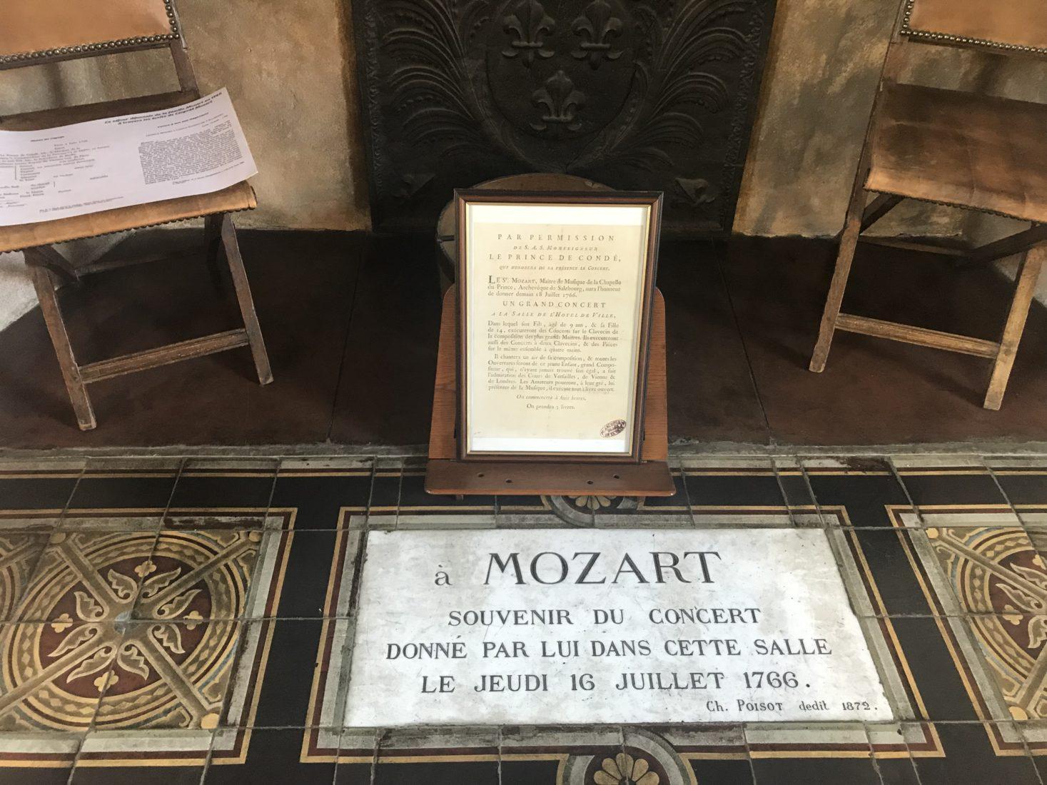 Archives départementales Côte-d'Or souvenir de Mozart