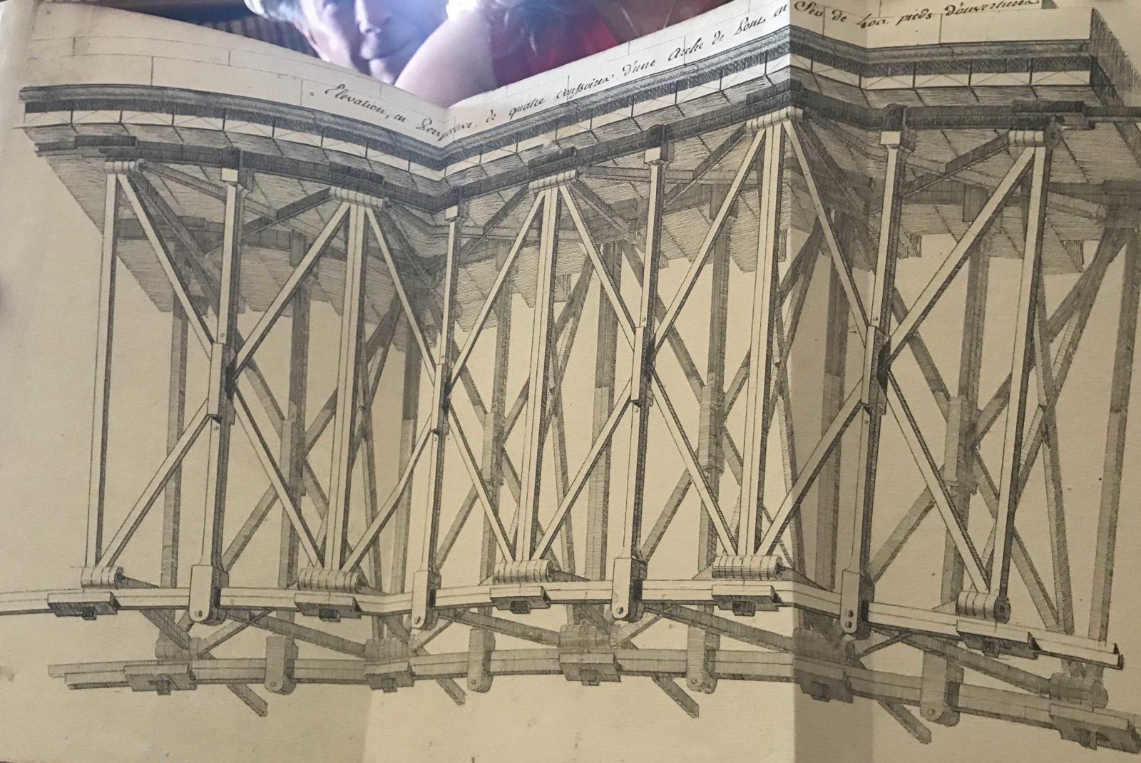 Archives municipales de Dijon Léonard Racle plan élévation pont