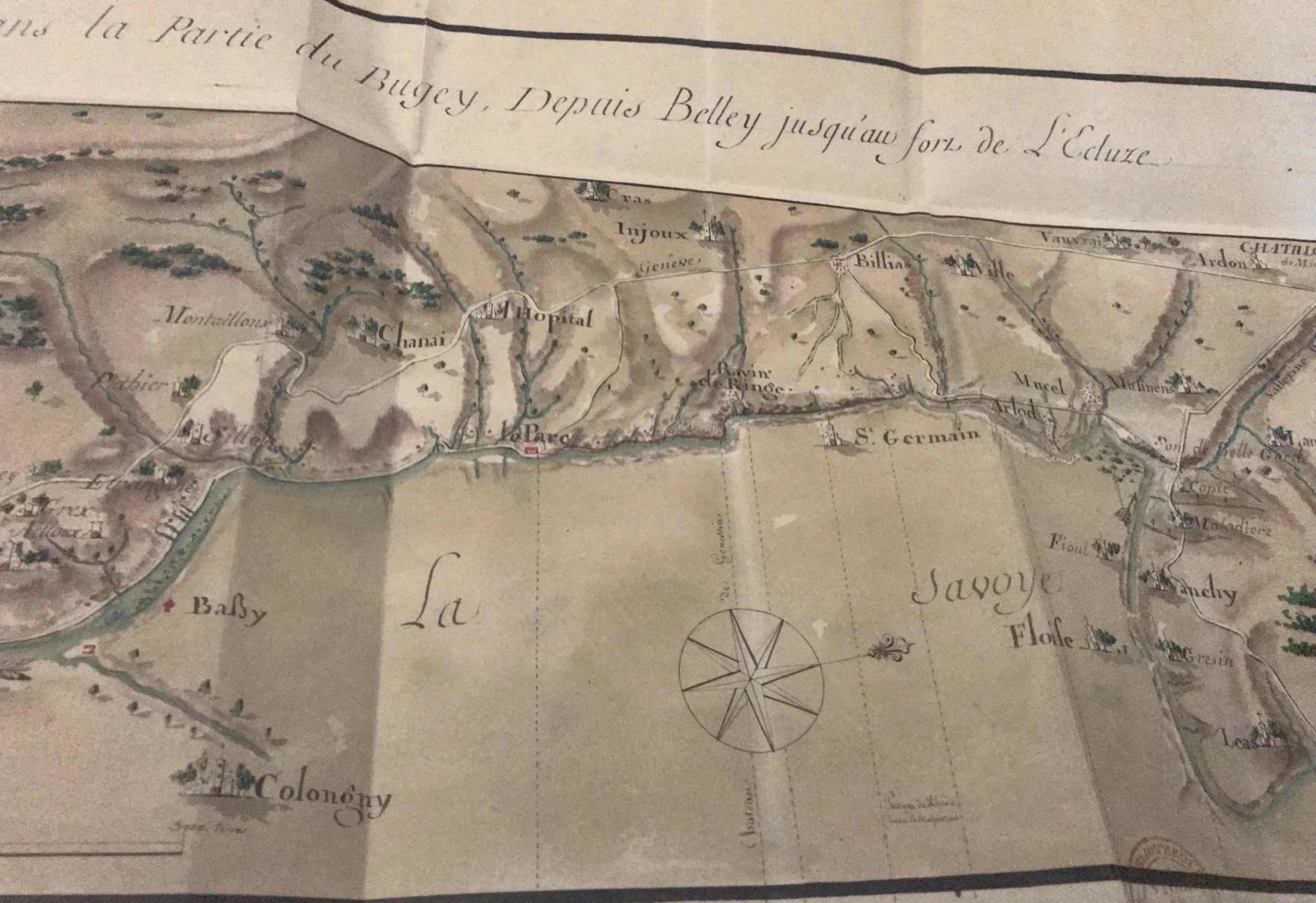 Archives municipales de Dijon Léonard Racle plan Bugey