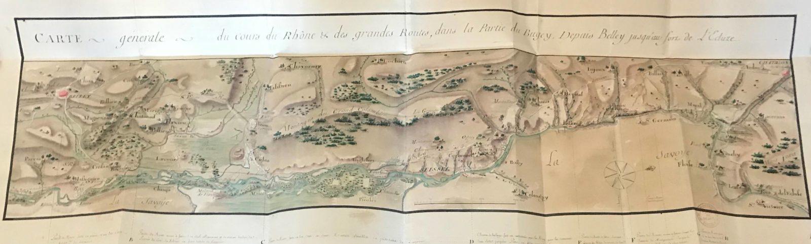 Archives municipales de Dijon Léonard Racle carte Bugey
