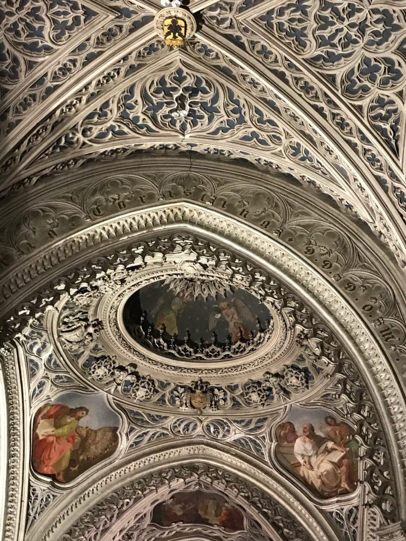 Abbaye d'Hautecombe intérieur - plafond