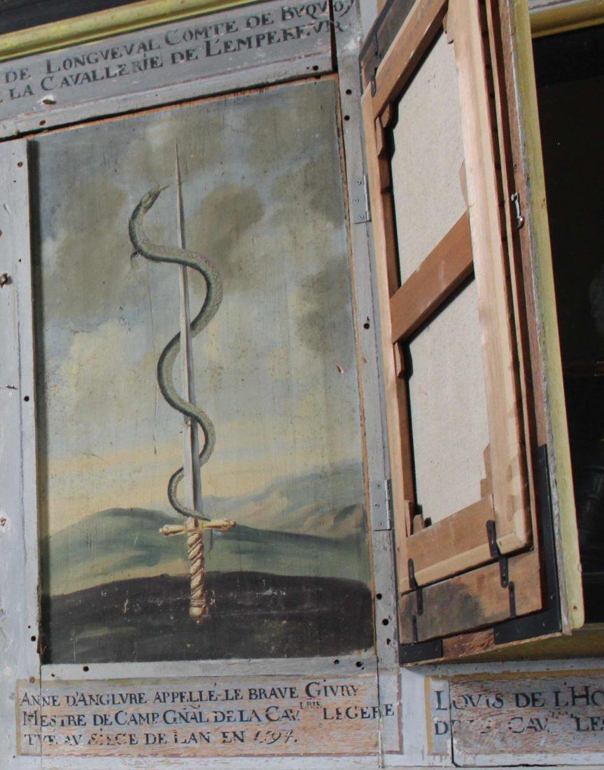 Bussy-Rabutin double peinture murale