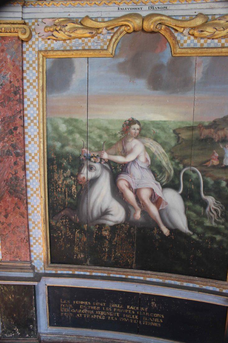 Bussy-Rabutin Salle de la tour dorée peinture murale