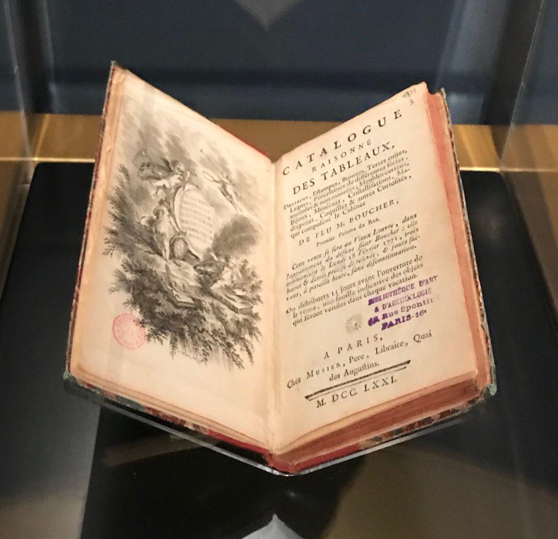 Catalogue des collections de F. Boucher vendus après sa mort