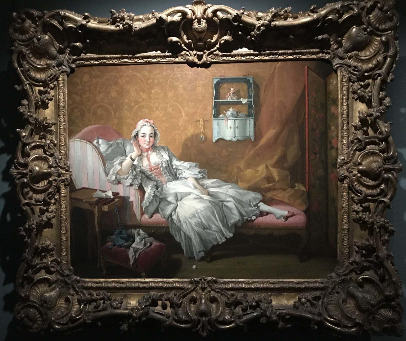 Femme sur un lit de repos F. Boucher