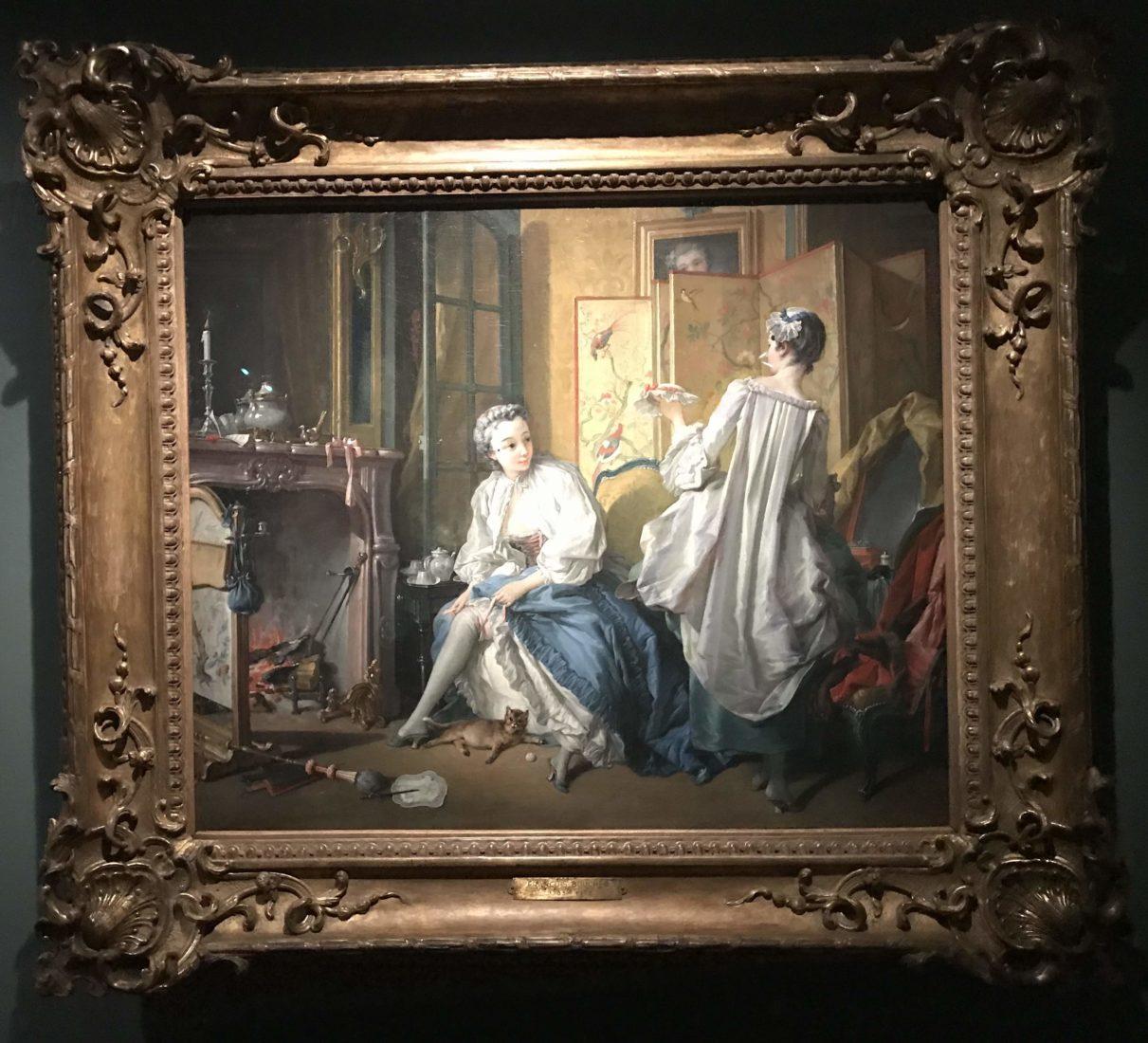 La Toilette ou Femme nouant sa jarretière F. Boucher