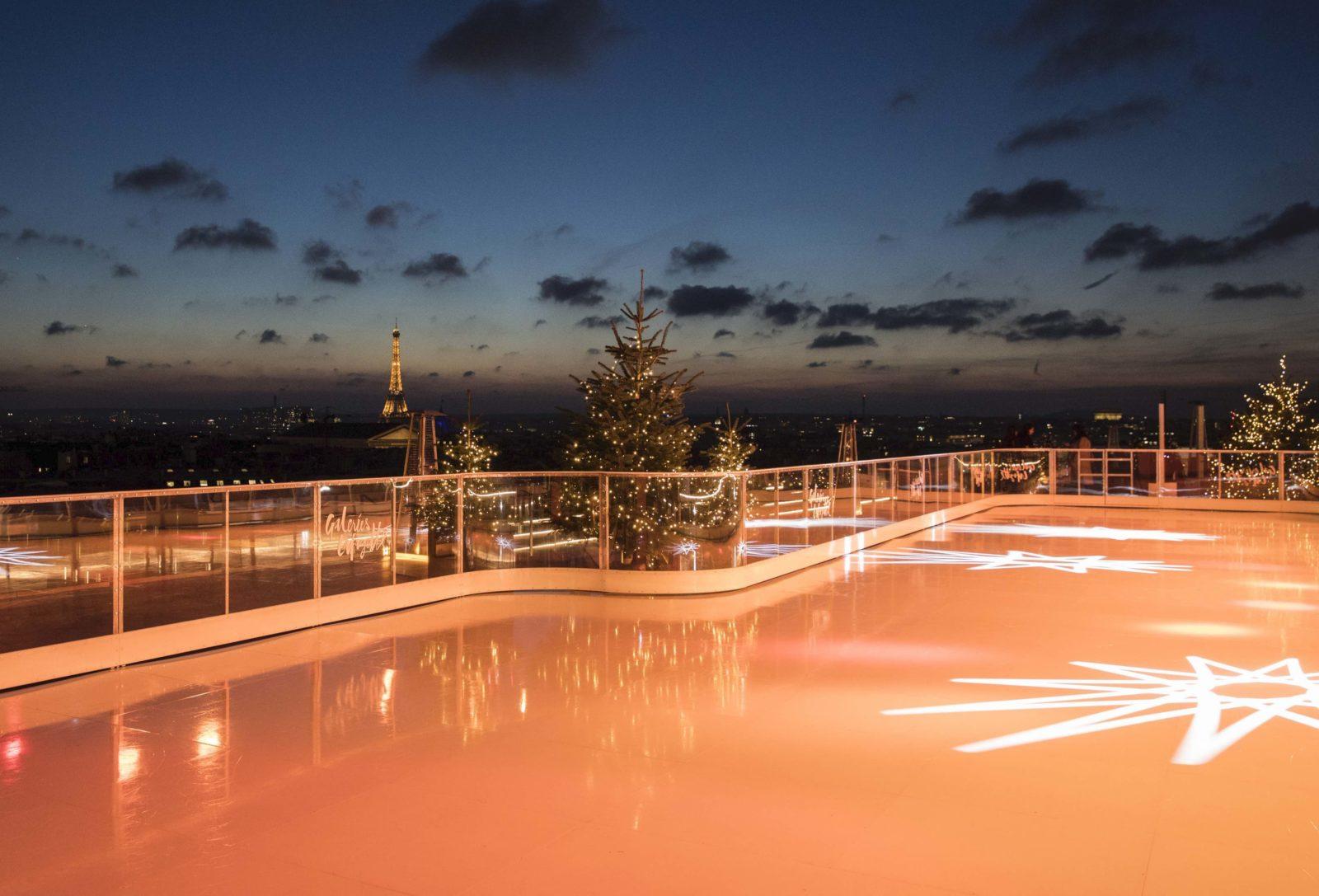 Patinoire - vue du toit des Galeries Lafayette - Décembre 2019