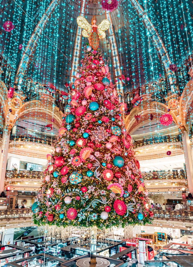 Galeries Lafayette Paris Haussmann le grand sapin Noel 2019
