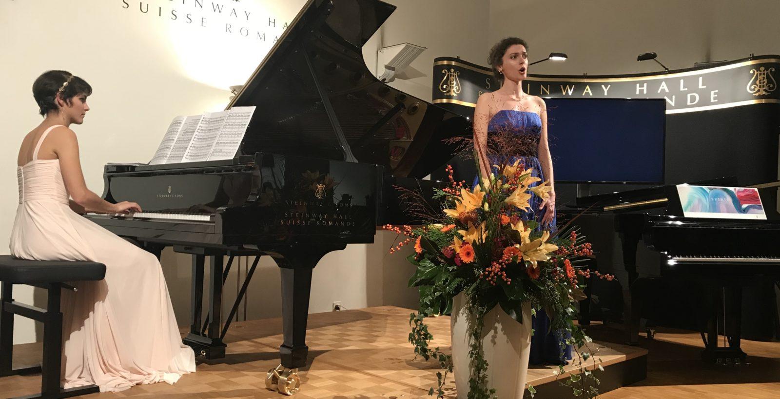 Steinway Hall Suisse Romande Elisabeth Montabone et Lise Khatib