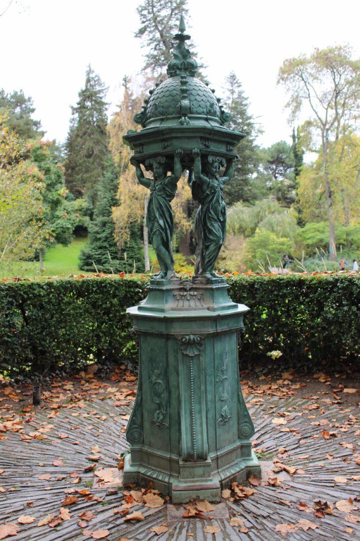 Nantes Jardin des plantes Fontaine Wallace