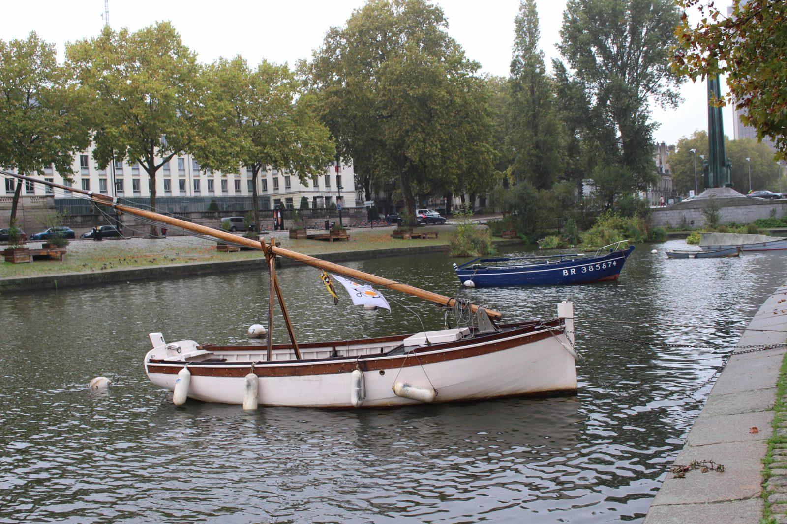 Nantes bateaux sur l'Erdre