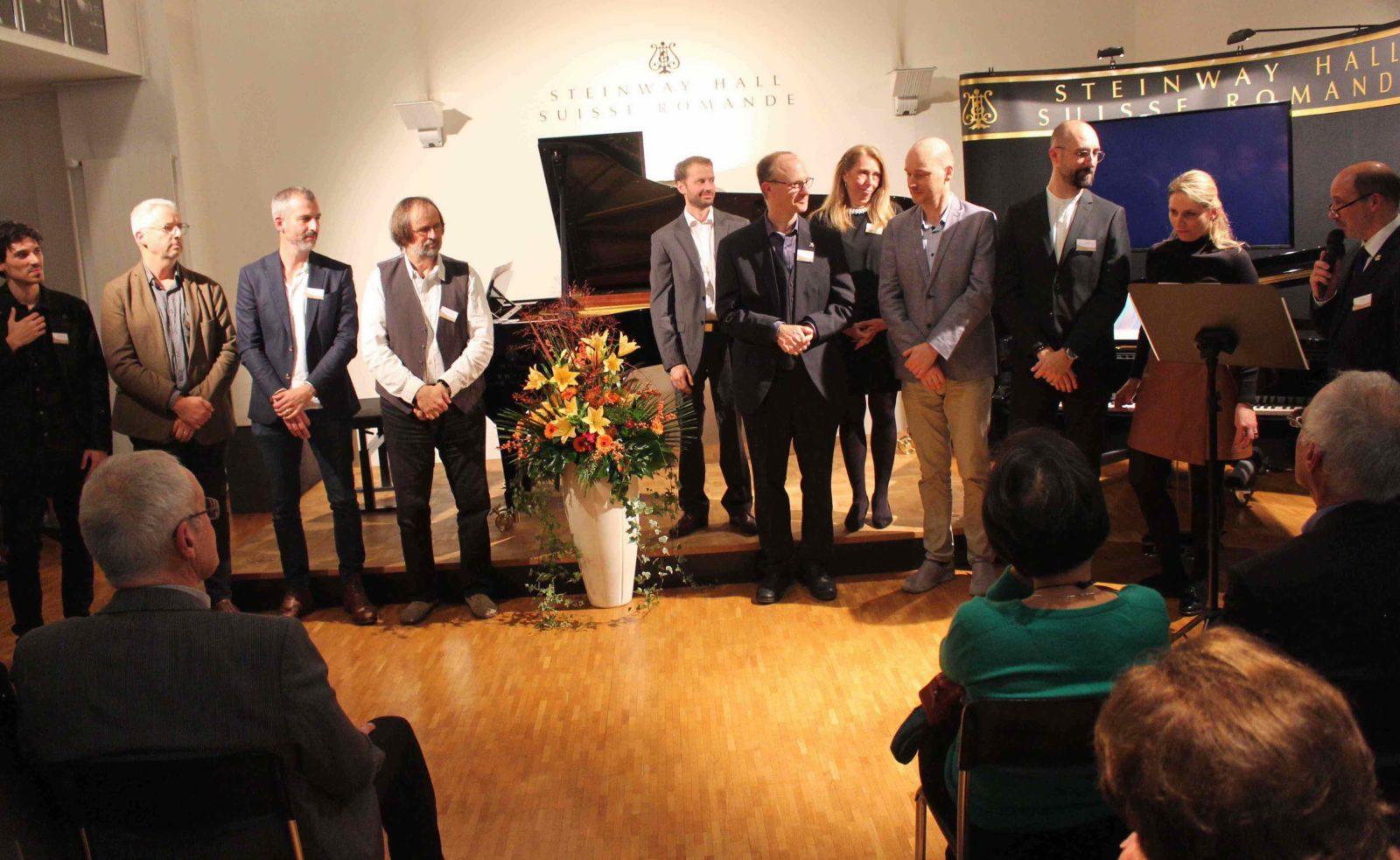 Armando Piguet et l'équipe de Steinway Hall Lausanne