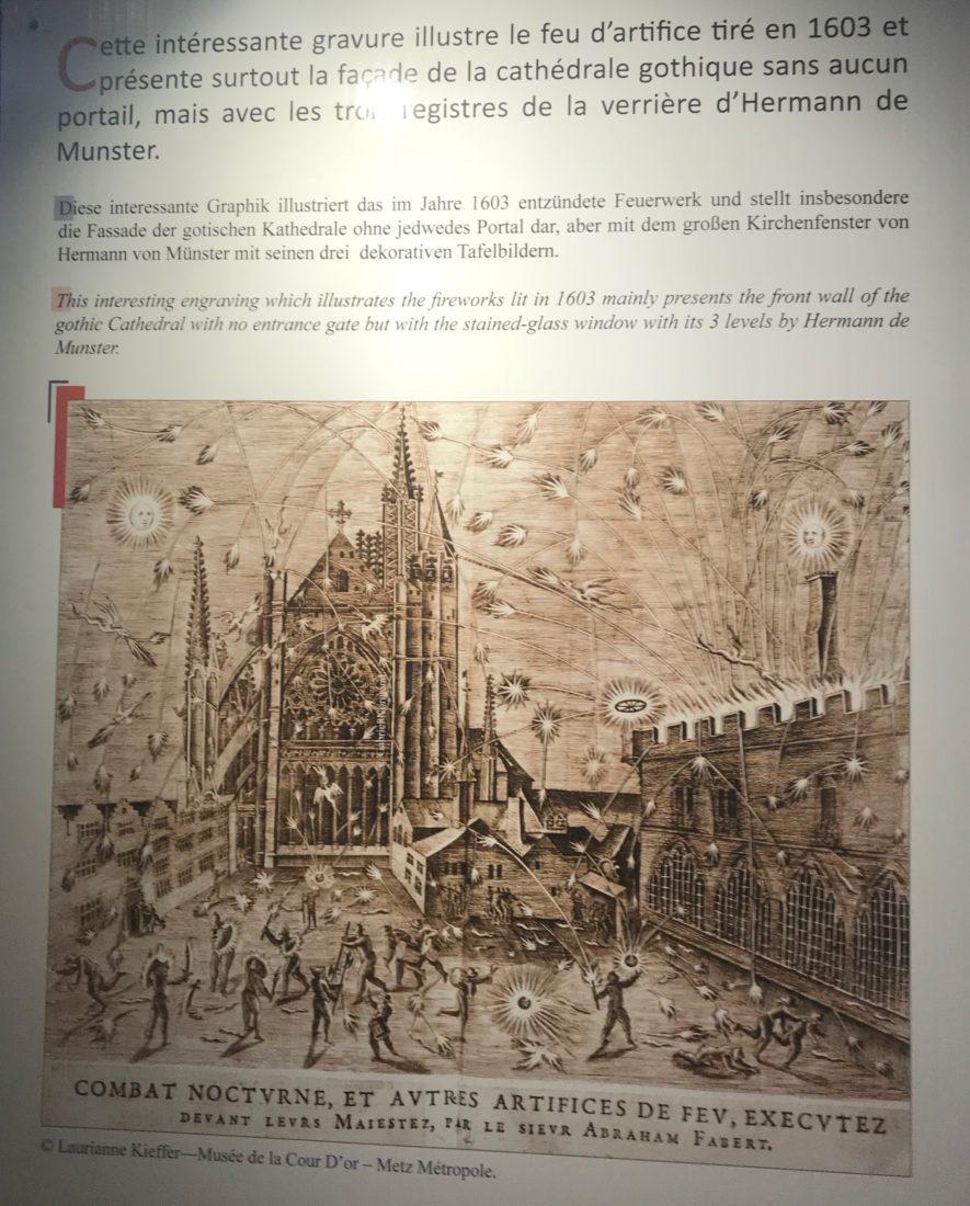 La cathédrale de Metz en feu