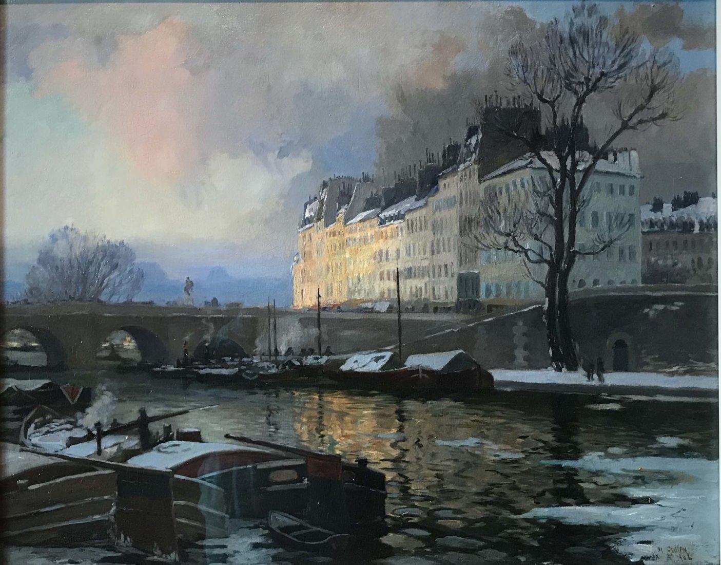 L'hermitage lausanne Maurice Cullen – La Seine en hiver, Paris