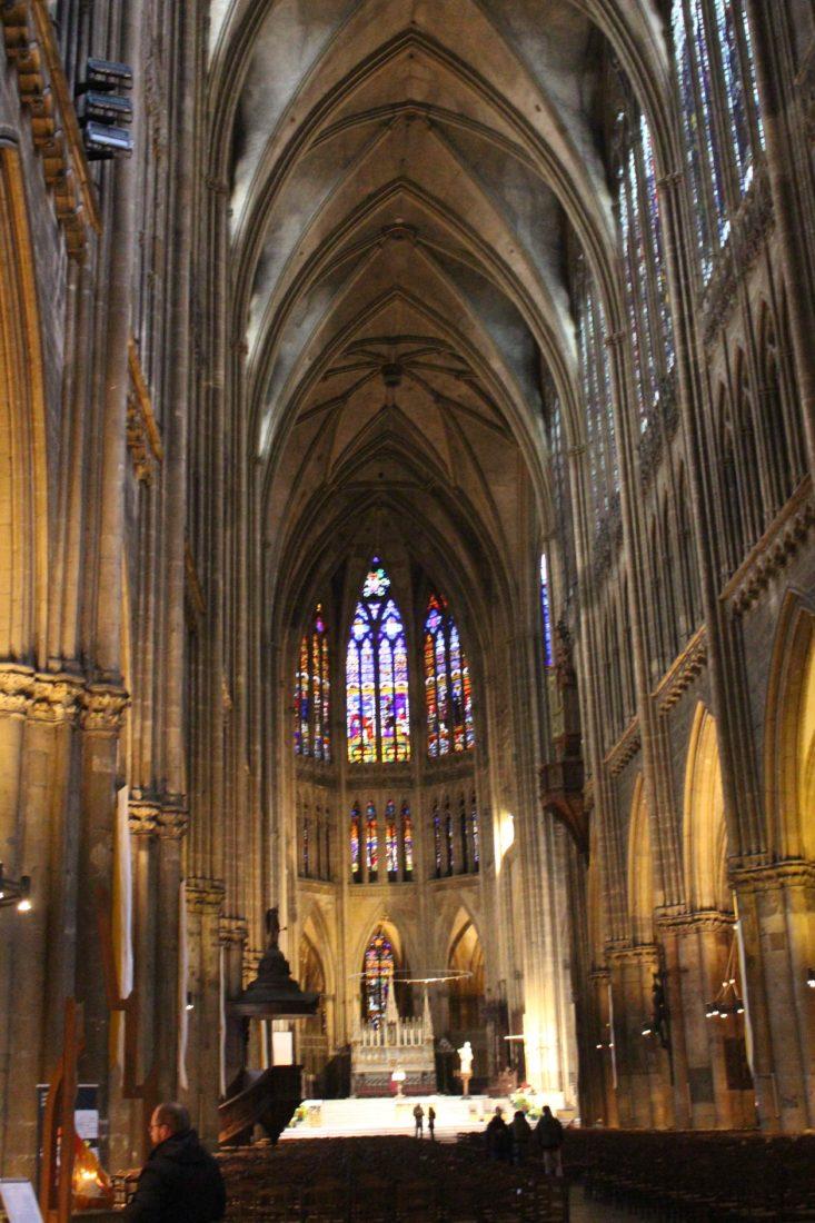 Metz cathédrale la nef