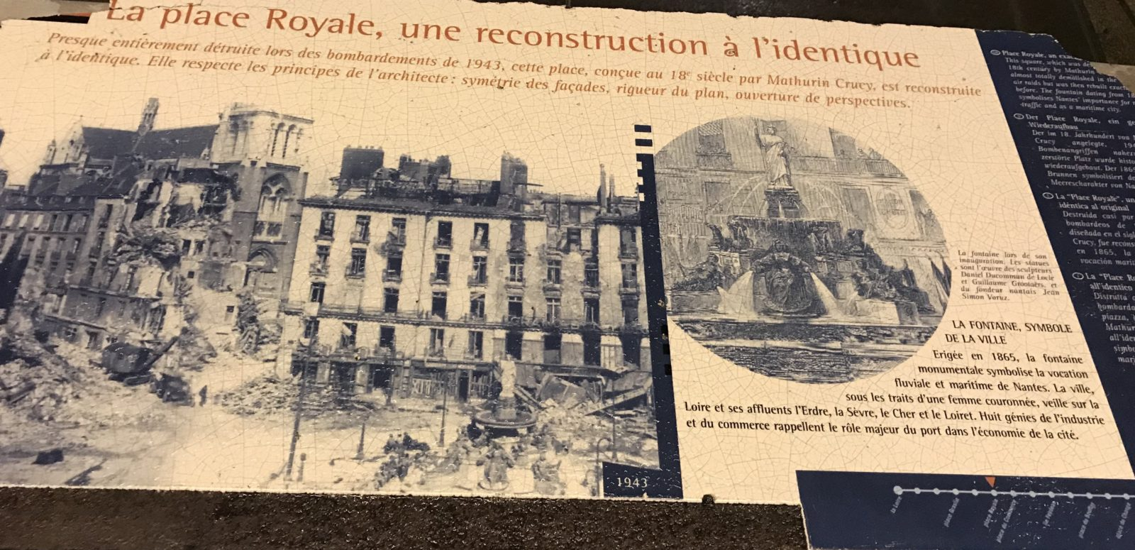 Nantes place Royale bombardée