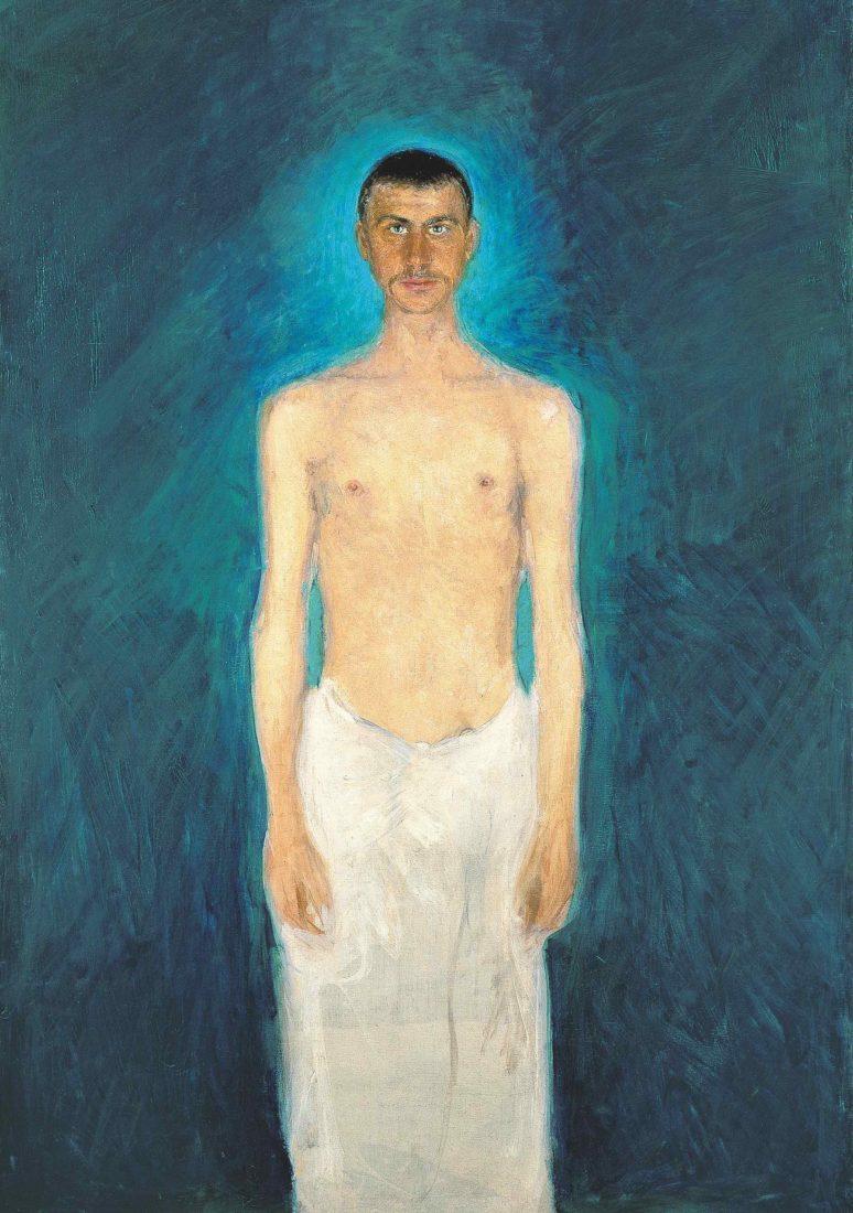 Richard Gerstl (1883-1908). Autoportrait torse nu,