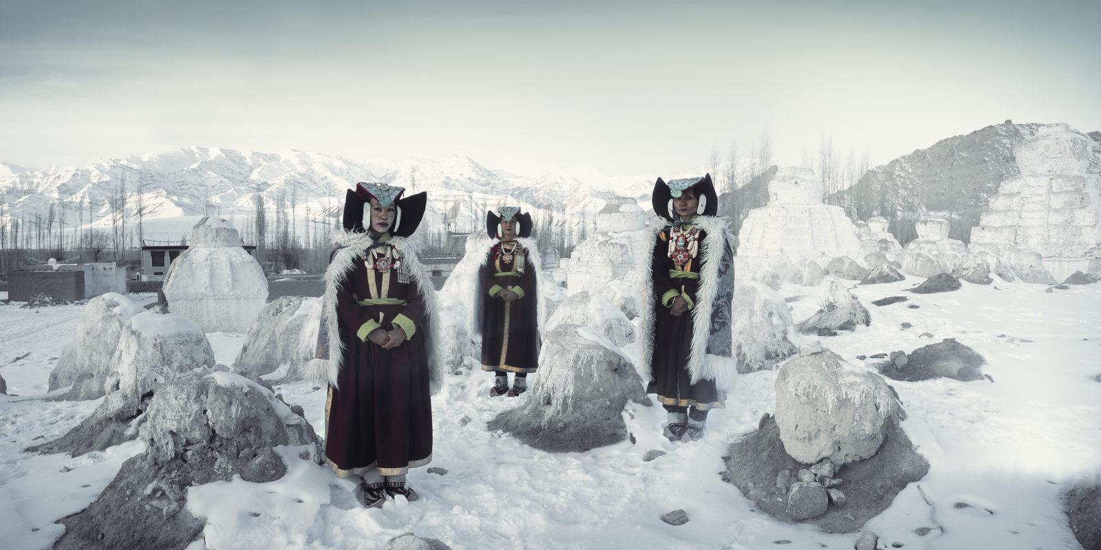Perak Ladies | Thikse Monastery, Ladakh | India, 2012