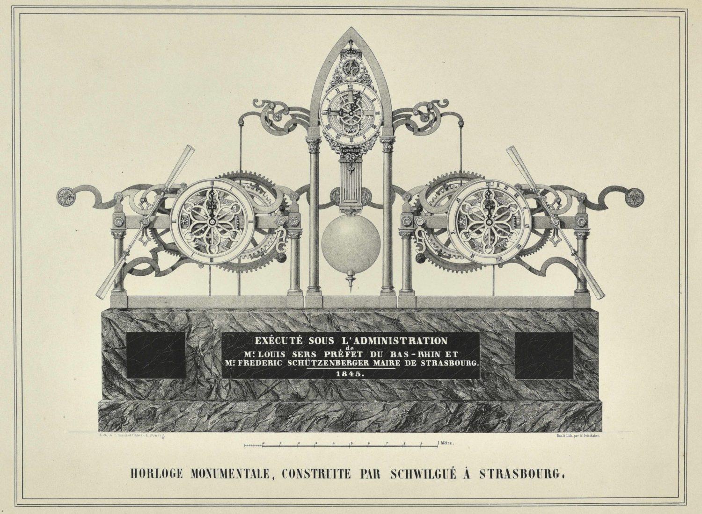 Horloge monumentale, construite par Schwilgué à Strasbourg 1845