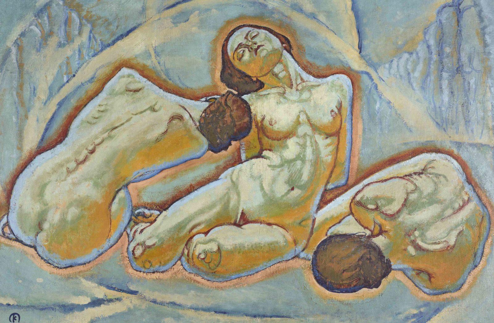 Koloman Moser (1868-1918). Trois femmes,