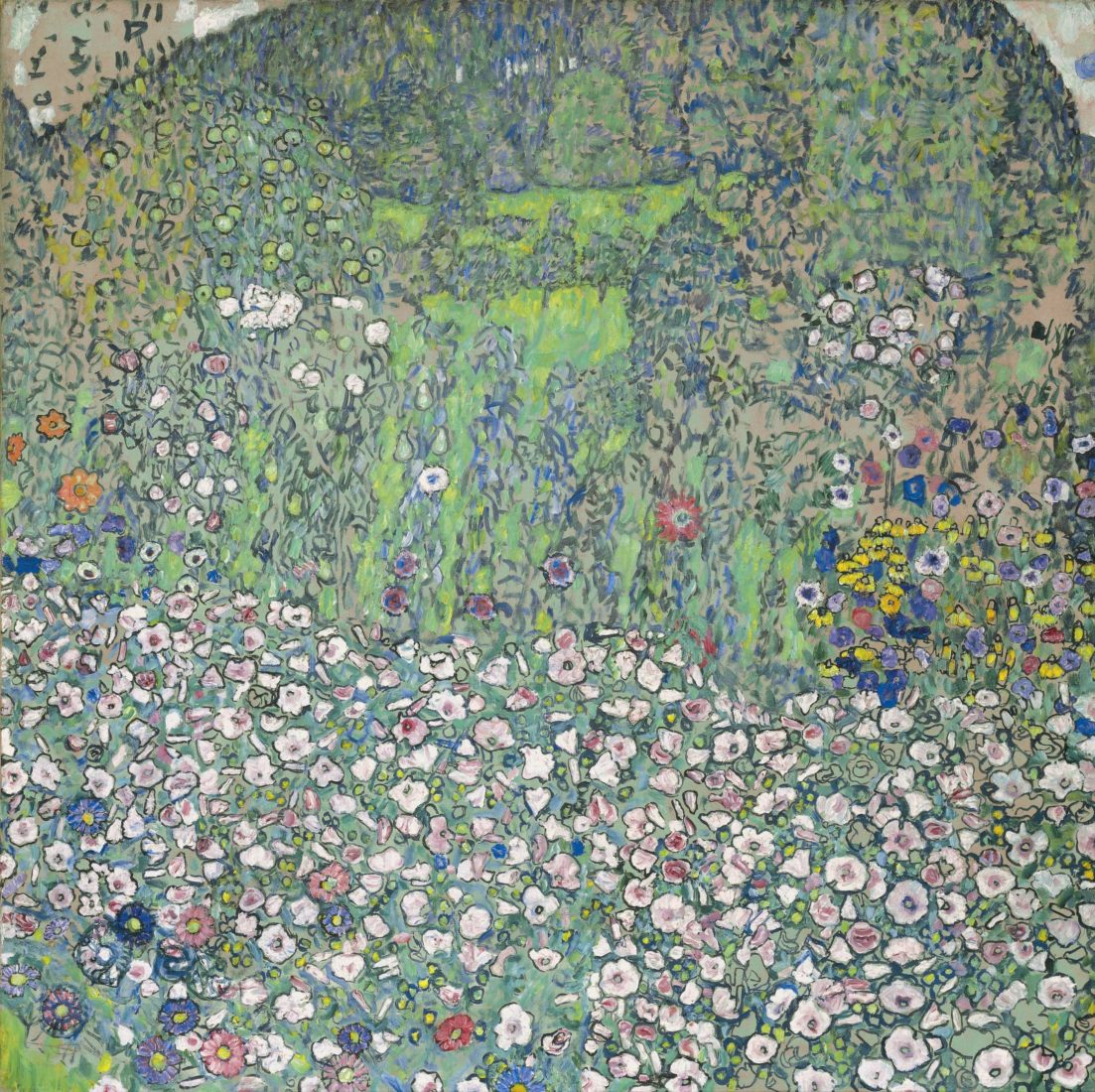Gustav Klimt (1862-1918) Paysage de jardin avec colline