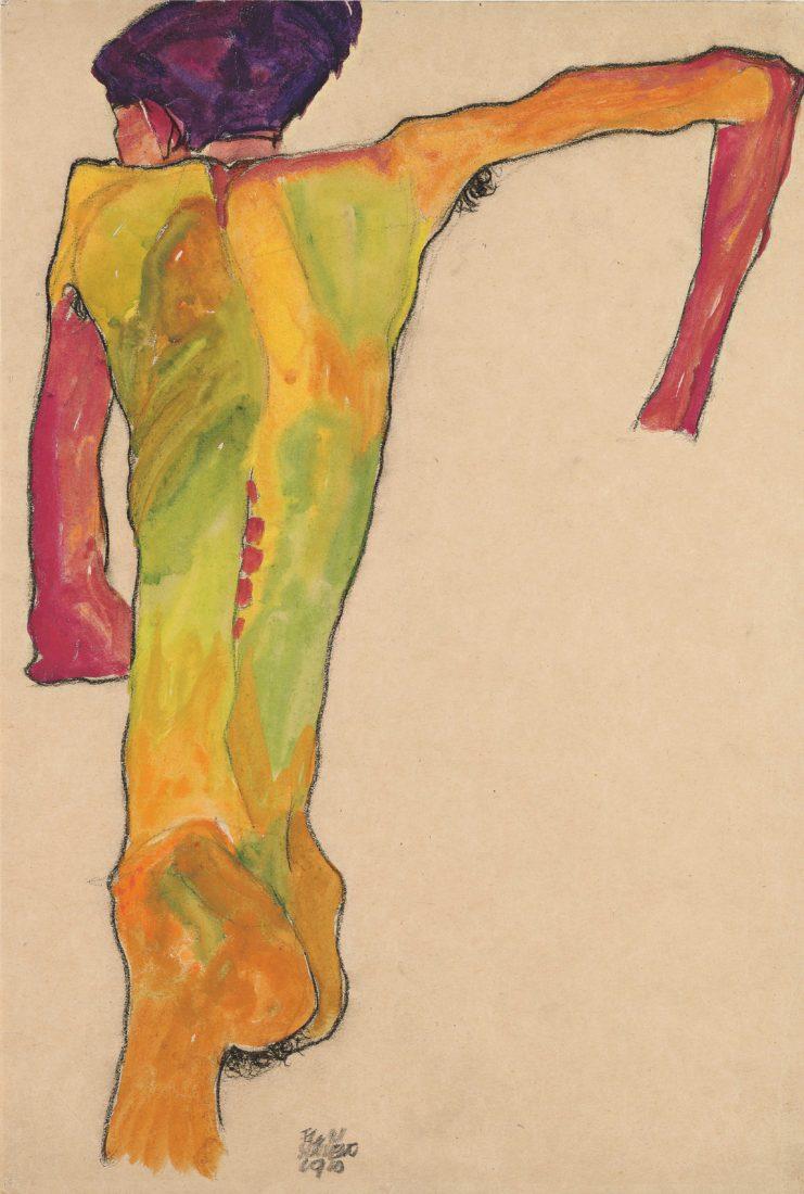 Egon Schiele (1890-1918). Nu de dos