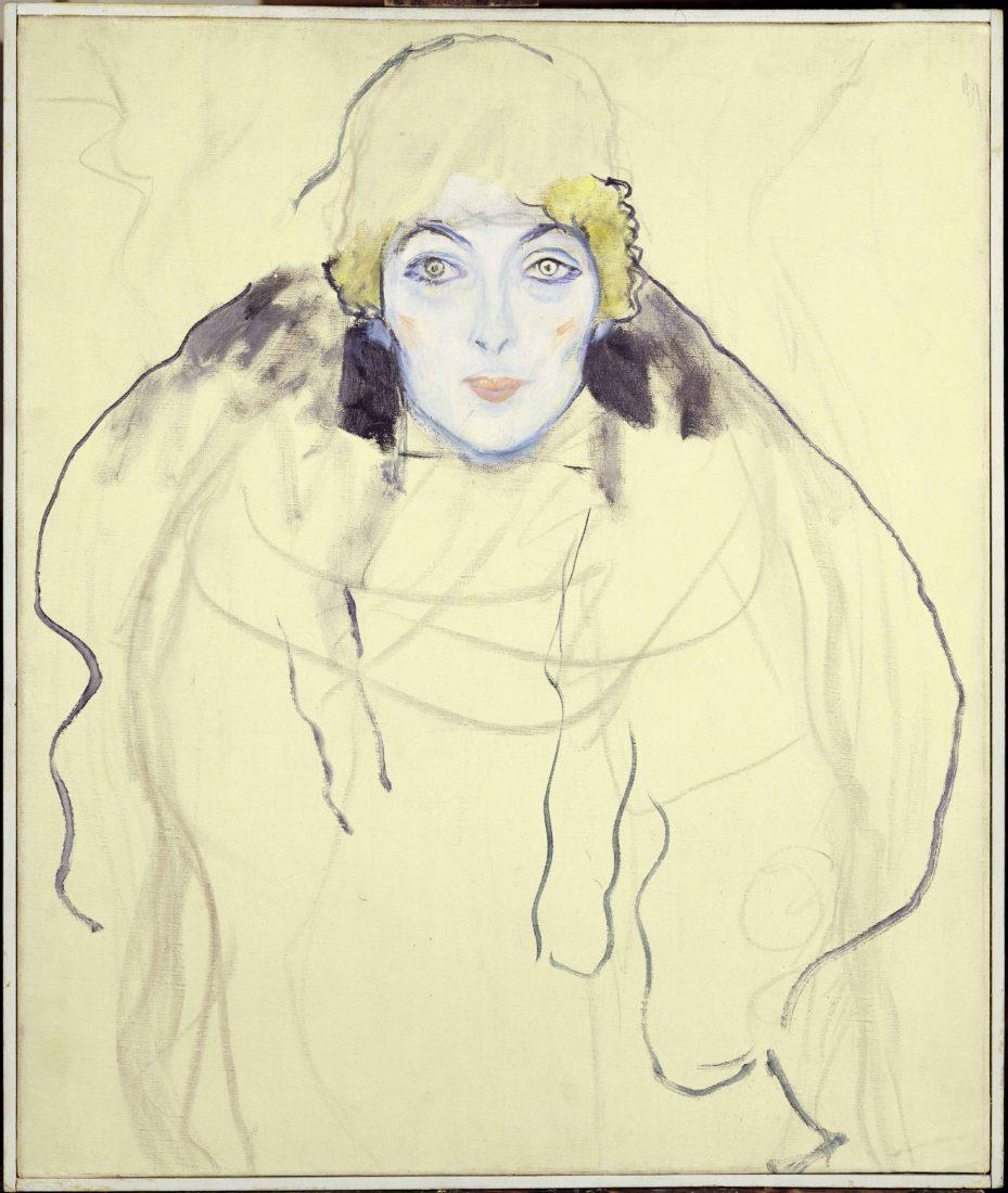 Gustav Klimt (1862-1918). Tête de femme