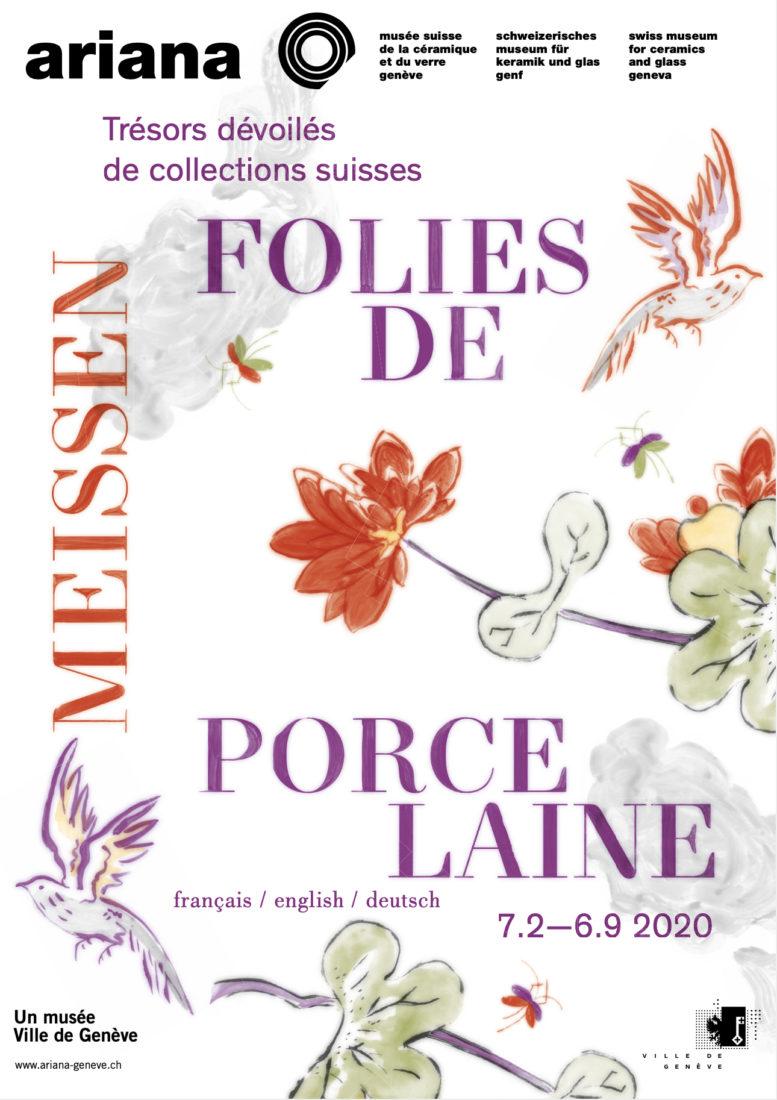 Ariana Genève- Meissen Affiche Folies de porcelaine