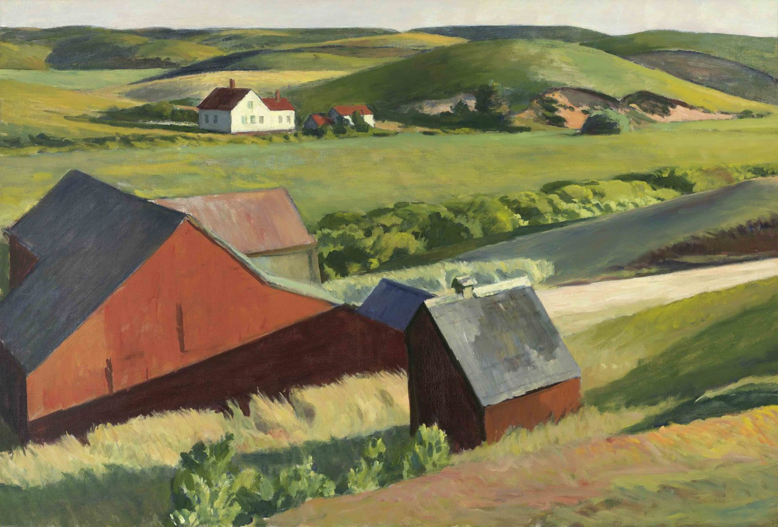 EDWARD HOPPER COBB'S BARNS, SOUTH TRURO, 1930–1933