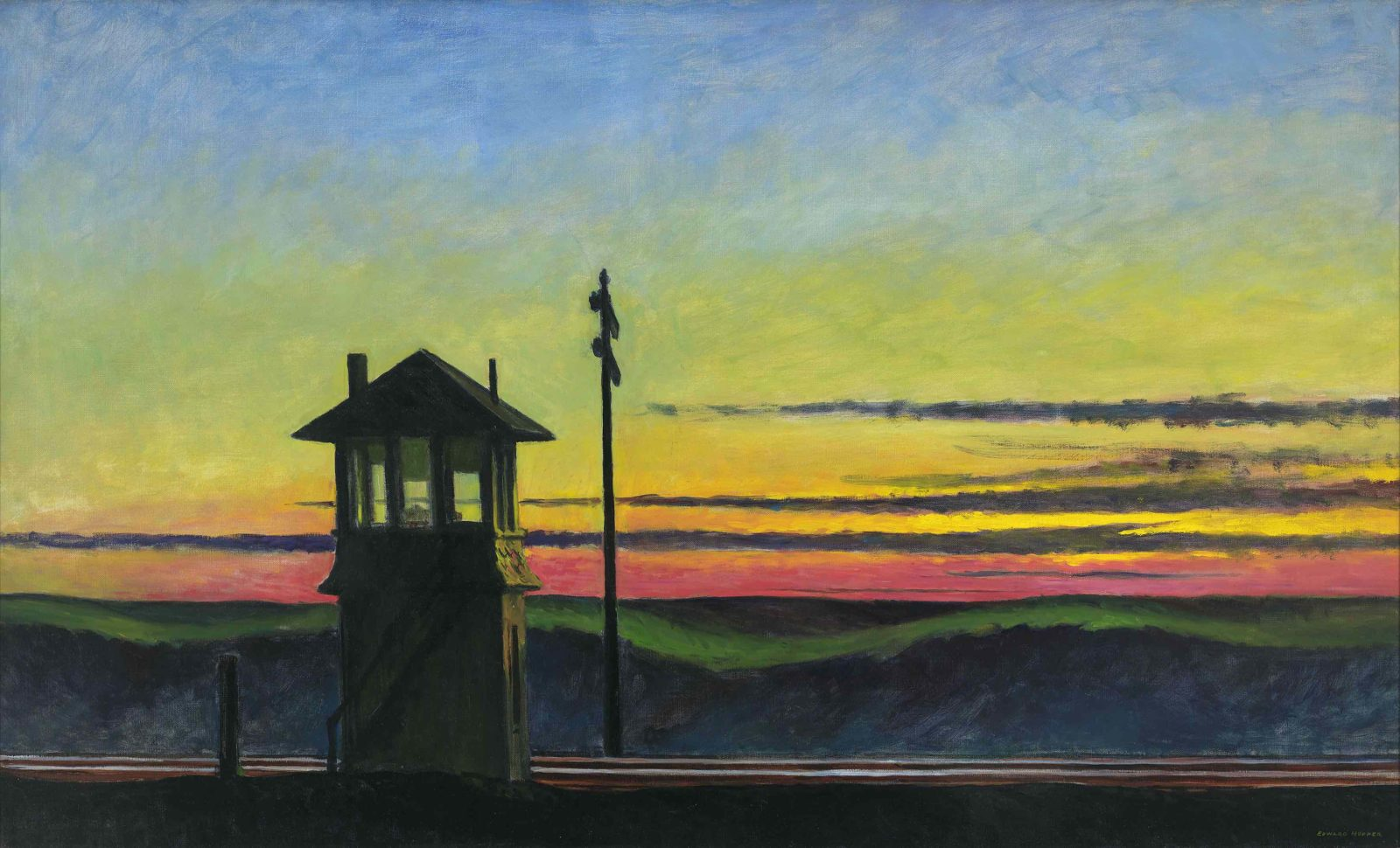 EDWARD HOPPER, RAILROAD SUNSET, 1929