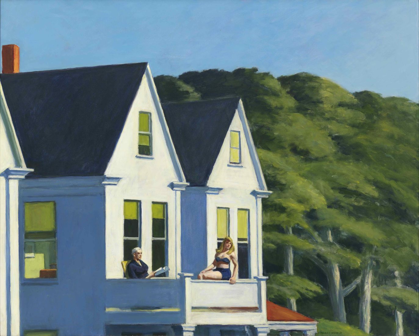 EDWARD HOPPER, SECOND STORY SUNLIGHT, 1960