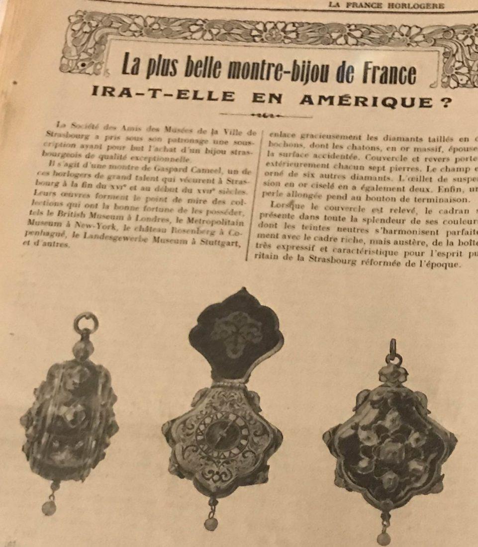 montre pendentif de Gaspard Cameel en vente