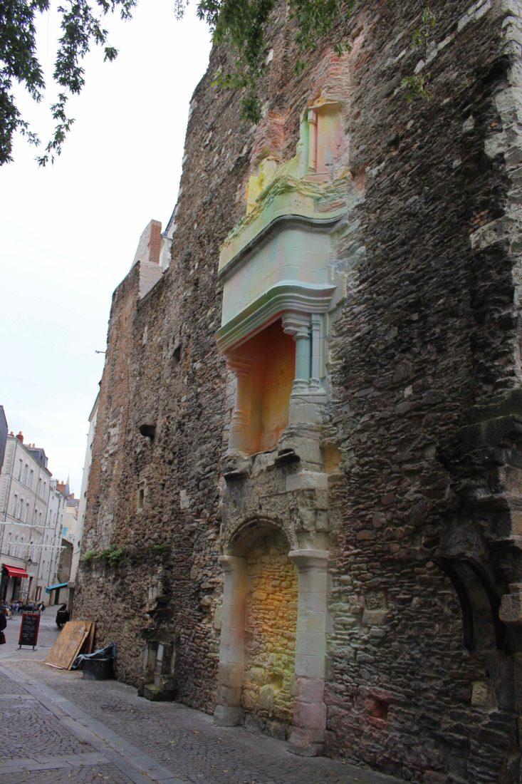 Nantes vieille ville mur peint