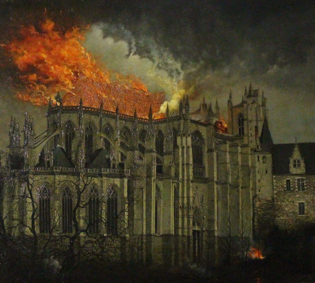 Nantes Cathédrale St Pierre-et-Saint-Paul peinture incendie