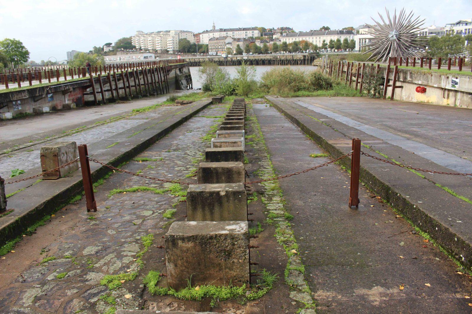 Nantes anciennes cales de lancement des bateaux