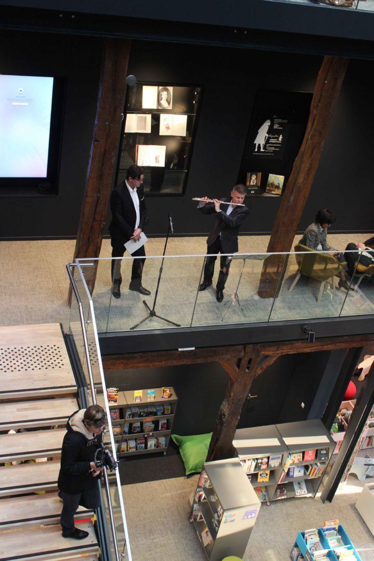 médiathèque de Ferney-Voltaire inauguration en musique