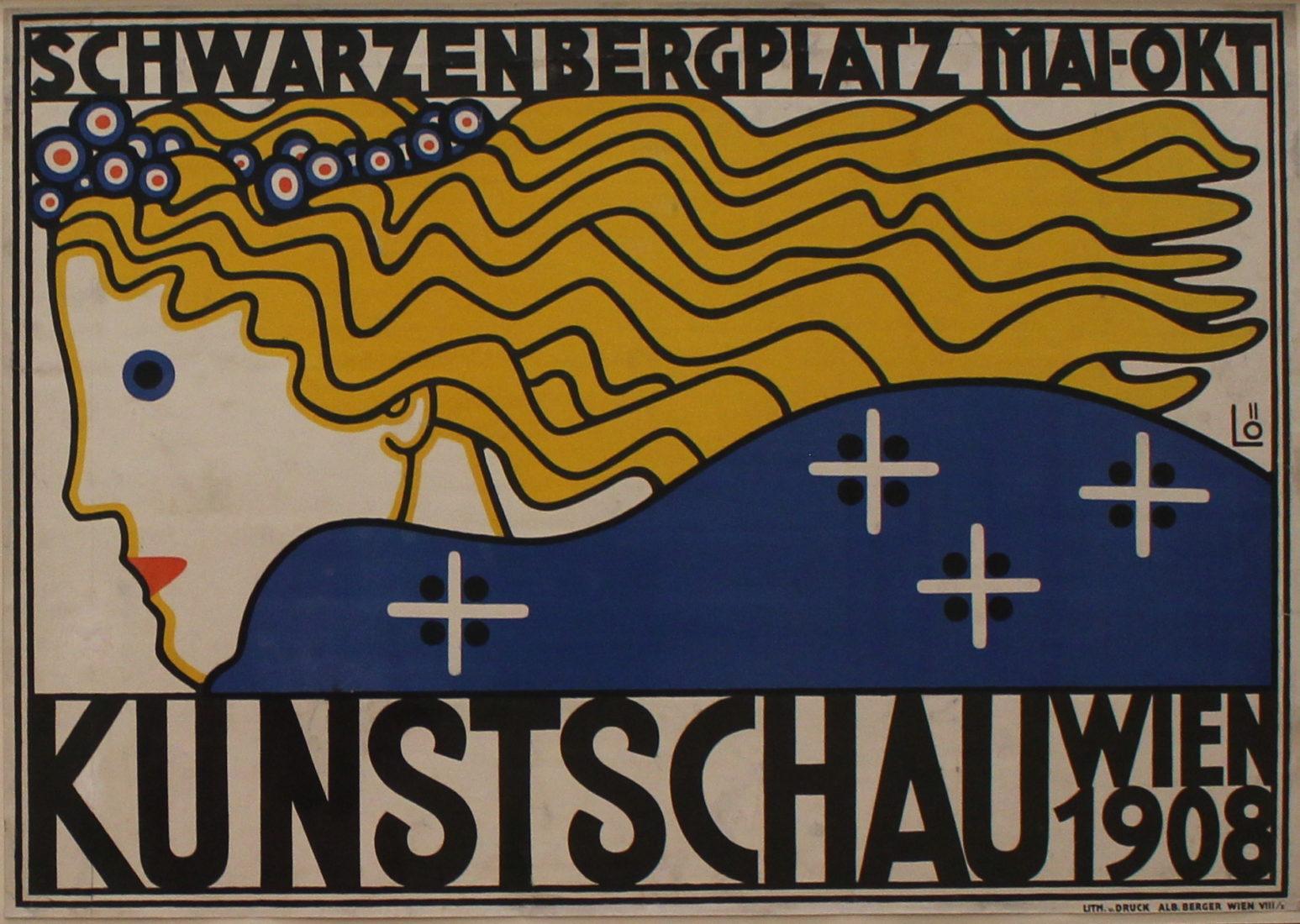 Bertold Löffler. Affiche pour la Kunstschau,1908
