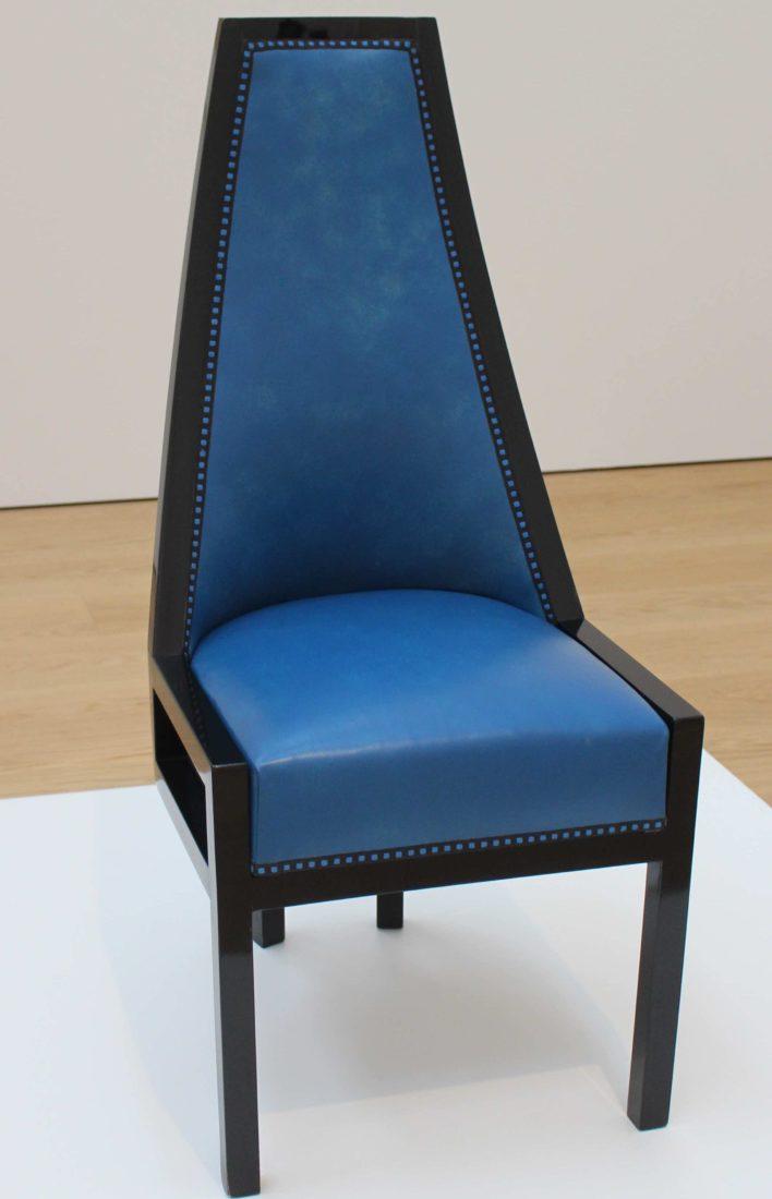 Koloman Moser (1868-1918). Chaise à dossier haut,