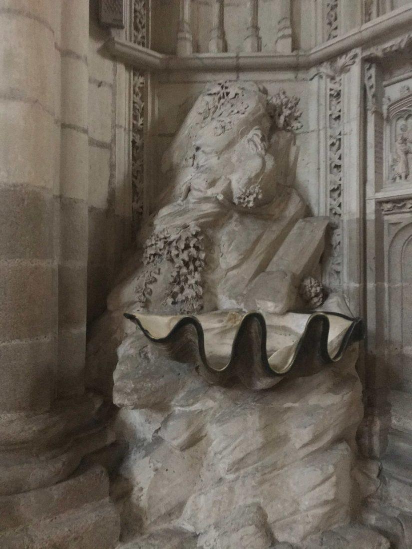 Nantes Cathédrale St Pierre-et-Saint-Paul coquillage bénitier