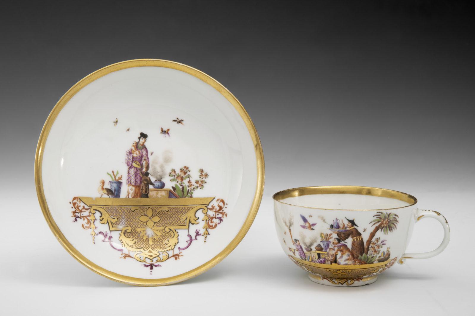 Ariana Meissen • Folies de porcelaine Bol et soucoupe, vers 1723‐24