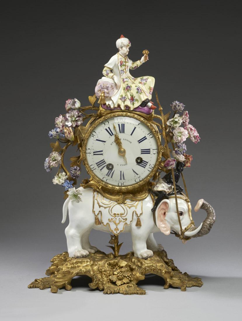 Ariana Genève Meissen • Folies de porcelaine Pendule avec éléphant